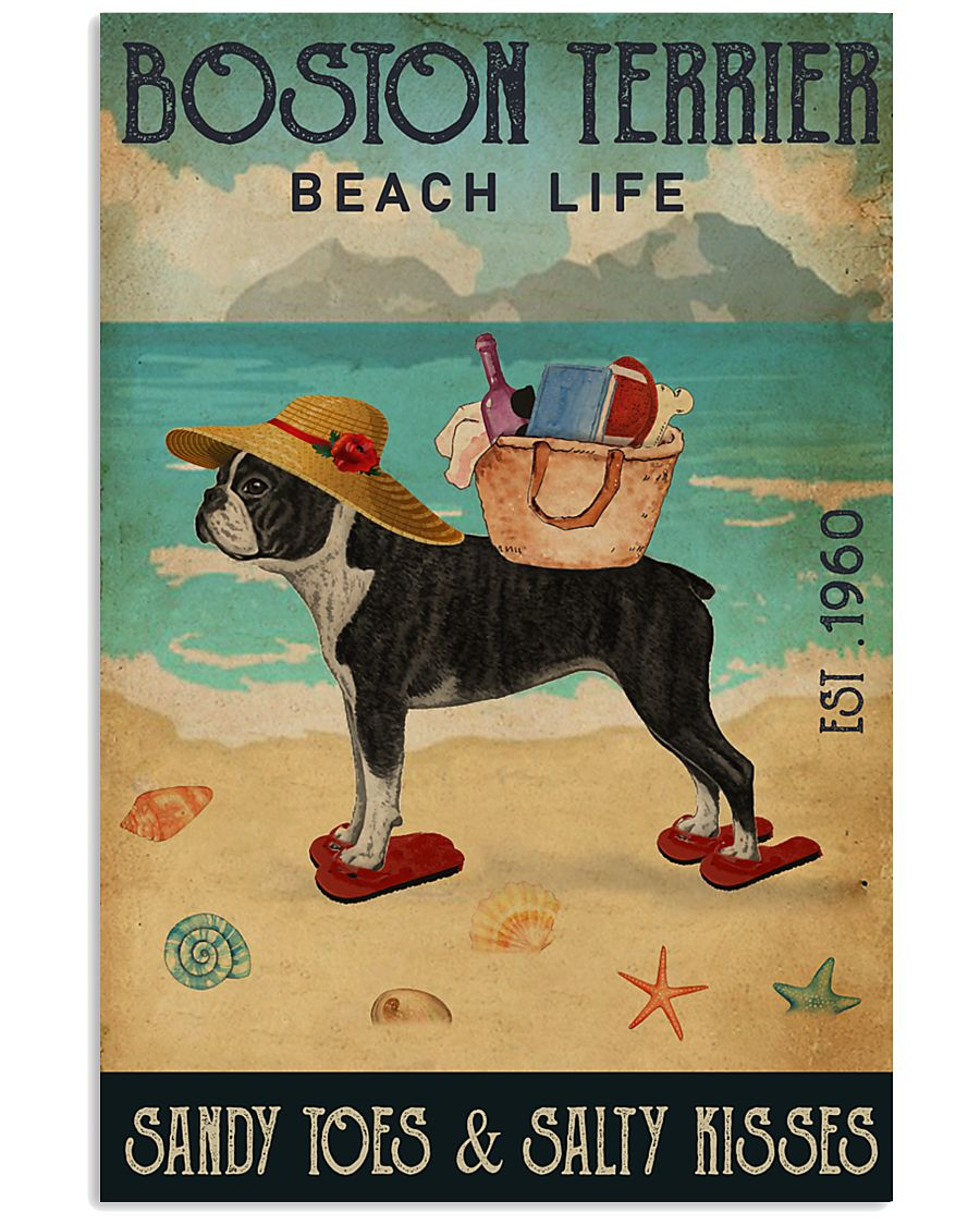 Beach Life Sandy Toes Boston Terrier 11x17 Poster