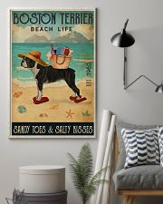 Beach Life Sandy Toes Boston Terrier 11x17 Poster lifestyle-poster-1