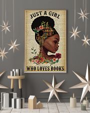 Just A Girl Who Loves Books Black Girl Reading 16x24 Poster lifestyle-holiday-poster-1