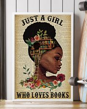 Just A Girl Who Loves Books Black Girl Reading 16x24 Poster lifestyle-poster-4