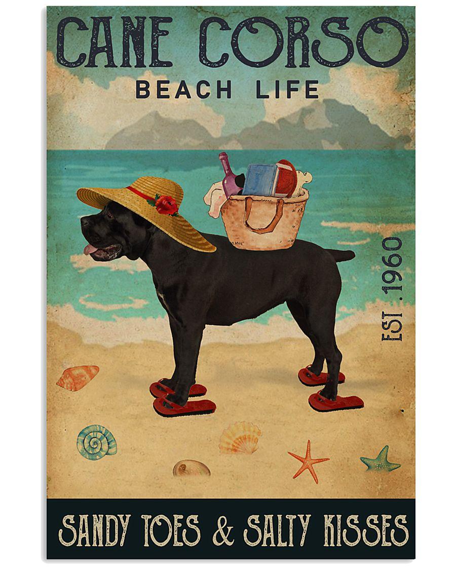 Beach Life Sandy Toes Cane Corso 11x17 Poster
