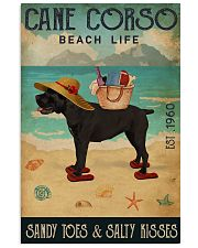 Beach Life Sandy Toes Cane Corso 11x17 Poster front
