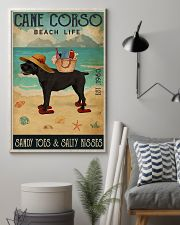 Beach Life Sandy Toes Cane Corso 11x17 Poster lifestyle-poster-1