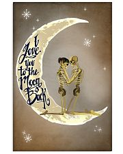 Love You To The Moon And Back Skeleton 11x17 Poster front