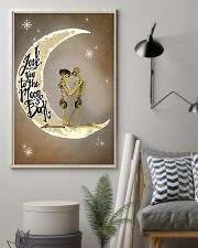 Love You To The Moon And Back Skeleton 11x17 Poster lifestyle-poster-1