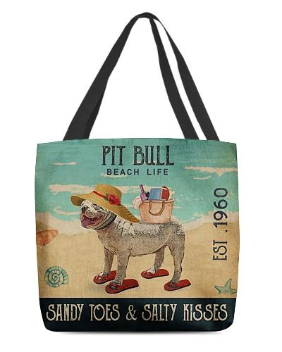 Beach Life Sandy Toes Pit Bull