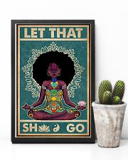 Retro Let That Black Girl Yoga 11x17 Poster lifestyle-poster-8