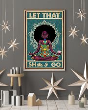 Retro Let That Black Girl Yoga 16x24 Poster lifestyle-holiday-poster-1