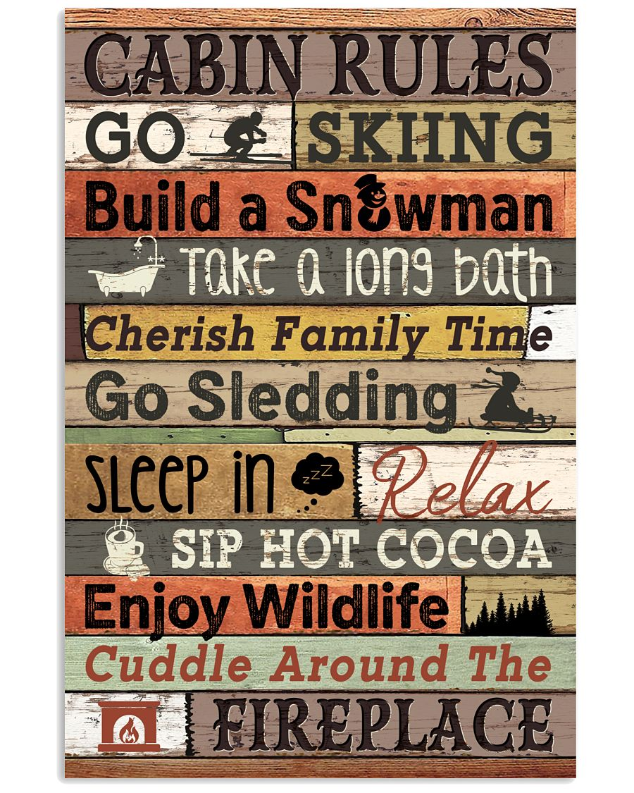 Carbin Rules Skiing  16x24 Poster