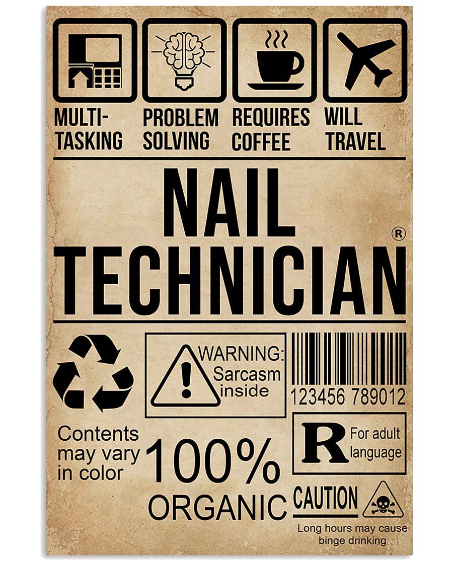 Multitasking Nail Technician 11x17 Poster