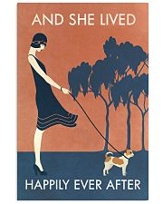 Vintage Girl She Lived Happily Chihuahua 11x17 Poster front