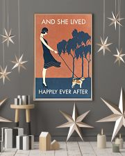 Vintage Girl She Lived Happily Chihuahua 11x17 Poster lifestyle-holiday-poster-1