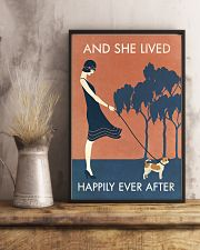 Vintage Girl She Lived Happily Chihuahua 11x17 Poster lifestyle-poster-3