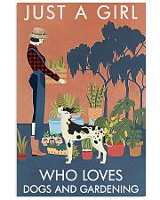 Vintage Girl Loves Gardening And Great Dane 11x17 Poster front