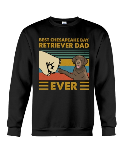 Retro Blue Best Chesapeake Bay Retriever Dad Ever