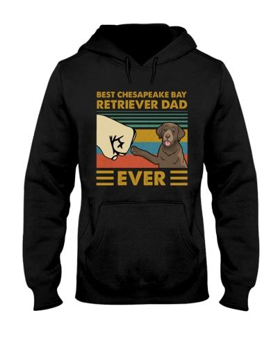 Retro Blue Best Chesapeake Bay Retriever Dad Ever