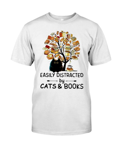 Easily Distracted Tree Book And Cats