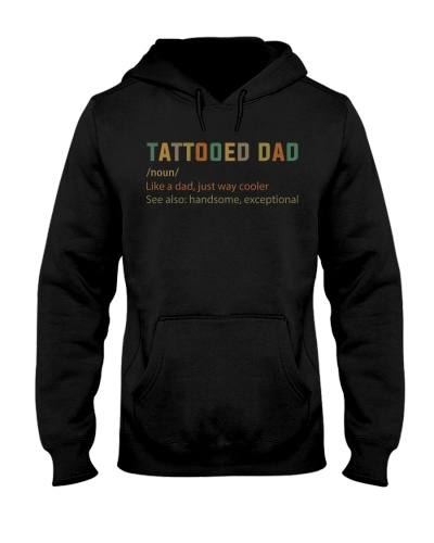 Tattooed Dad Just Way Cooler Retro
