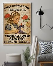 Vintage Dictionary Once Upon A Time Sewing Girl 16x24 Poster lifestyle-poster-1