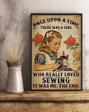 Vintage Dictionary Once Upon A Time Sewing Girl 16x24 Poster lifestyle-poster-3