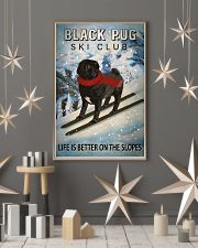 Ski Club Black Pug 16x24 Poster lifestyle-holiday-poster-1