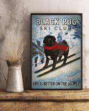 Ski Club Black Pug 16x24 Poster lifestyle-poster-3