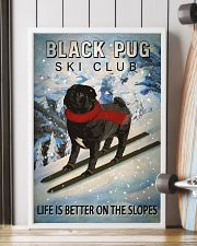 Ski Club Black Pug 16x24 Poster lifestyle-poster-4