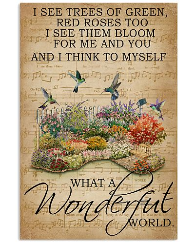 Floral Music Sheet Wonderful World Hummingbird