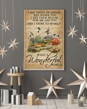 Floral Music Sheet Wonderful World Hummingbird 16x24 Poster lifestyle-holiday-poster-1