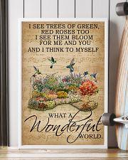 Floral Music Sheet Wonderful World Hummingbird 16x24 Poster lifestyle-poster-4