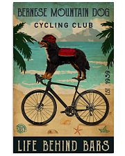 Cycling Club Bernese Mountain Dog 11x17 Poster front