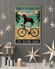 Cycling Club Bernese Mountain Dog 11x17 Poster lifestyle-holiday-poster-1