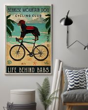 Cycling Club Bernese Mountain Dog 11x17 Poster lifestyle-poster-1