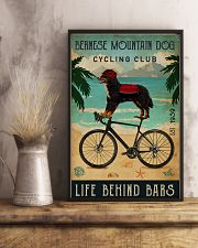 Cycling Club Bernese Mountain Dog 11x17 Poster lifestyle-poster-3