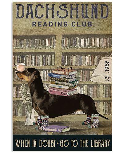 Reading Club When In Doubt Dachshund