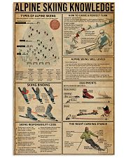 Alpine Skiing Knowledge 11x17 Poster front