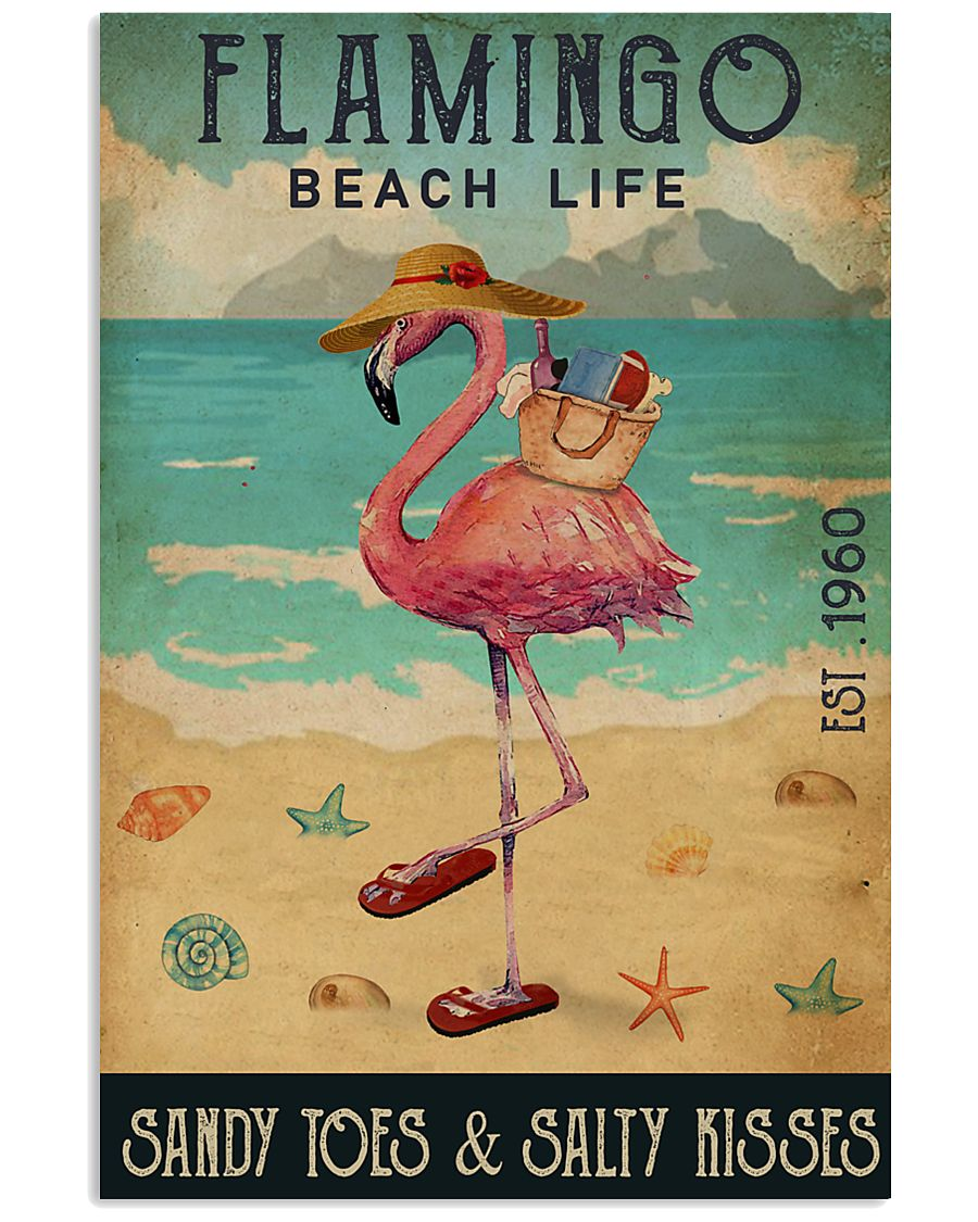 Beach Life Sandy Toes Flamingo 16x24 Poster