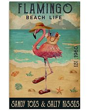 Beach Life Sandy Toes Flamingo 16x24 Poster front