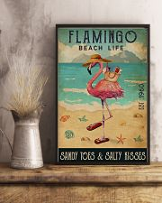 Beach Life Sandy Toes Flamingo 16x24 Poster lifestyle-poster-3