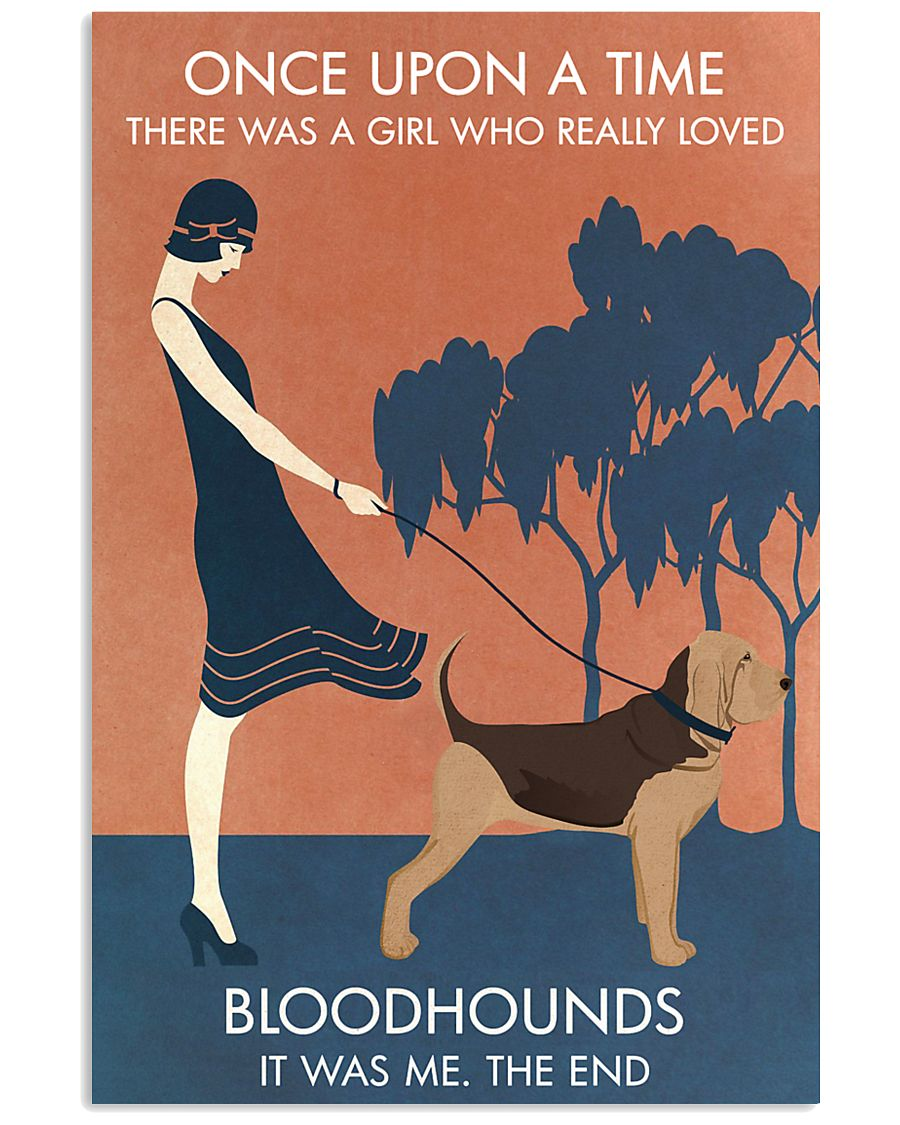 Vintage Girl Once Upon A Time Bloodhound 11x17 Poster