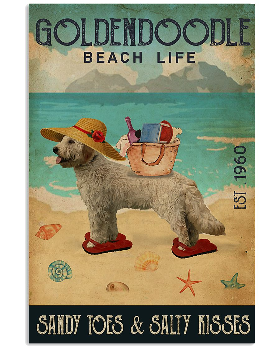Beach Life Sandy Toes Goldendoodle 11x17 Poster