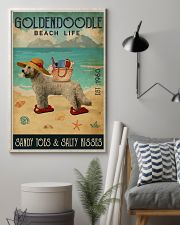Beach Life Sandy Toes Goldendoodle 11x17 Poster lifestyle-poster-1