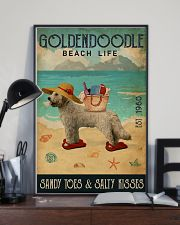 Beach Life Sandy Toes Goldendoodle 11x17 Poster lifestyle-poster-2