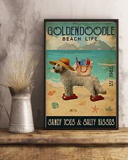 Beach Life Sandy Toes Goldendoodle 11x17 Poster lifestyle-poster-3