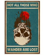 Retro Green Skull Not All Those Who Wander 11x17 Poster front