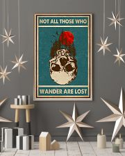Retro Green Skull Not All Those Who Wander 11x17 Poster lifestyle-holiday-poster-1