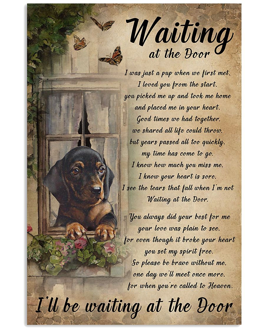 I/'ll be waiting at the door dog poster dog lover poster Waiting in the door..