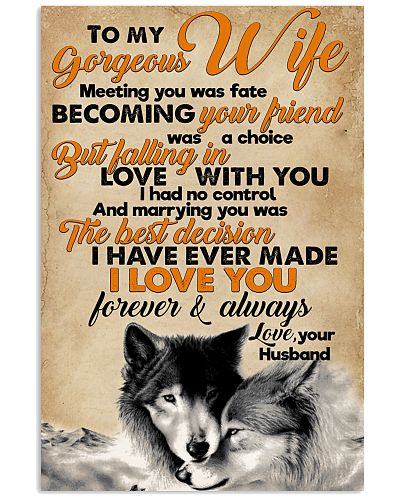 To My Gorgeous Wife Forever And Always Wolf