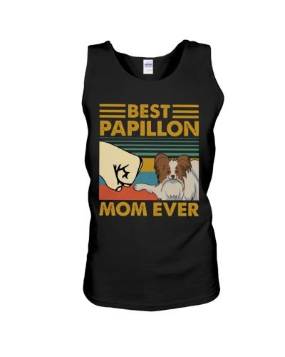 Retro Blue Best Papillon Mom Ever
