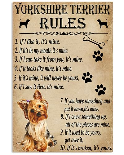 Funny Rules For Your Dog Yorkshire Terrier